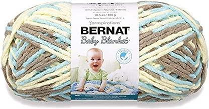 Bernat Baby Blanket Yarn - (6) Super Bulky Gauge - 10.5 oz - Beach Babe - Single Ball Machine Wash & Dry