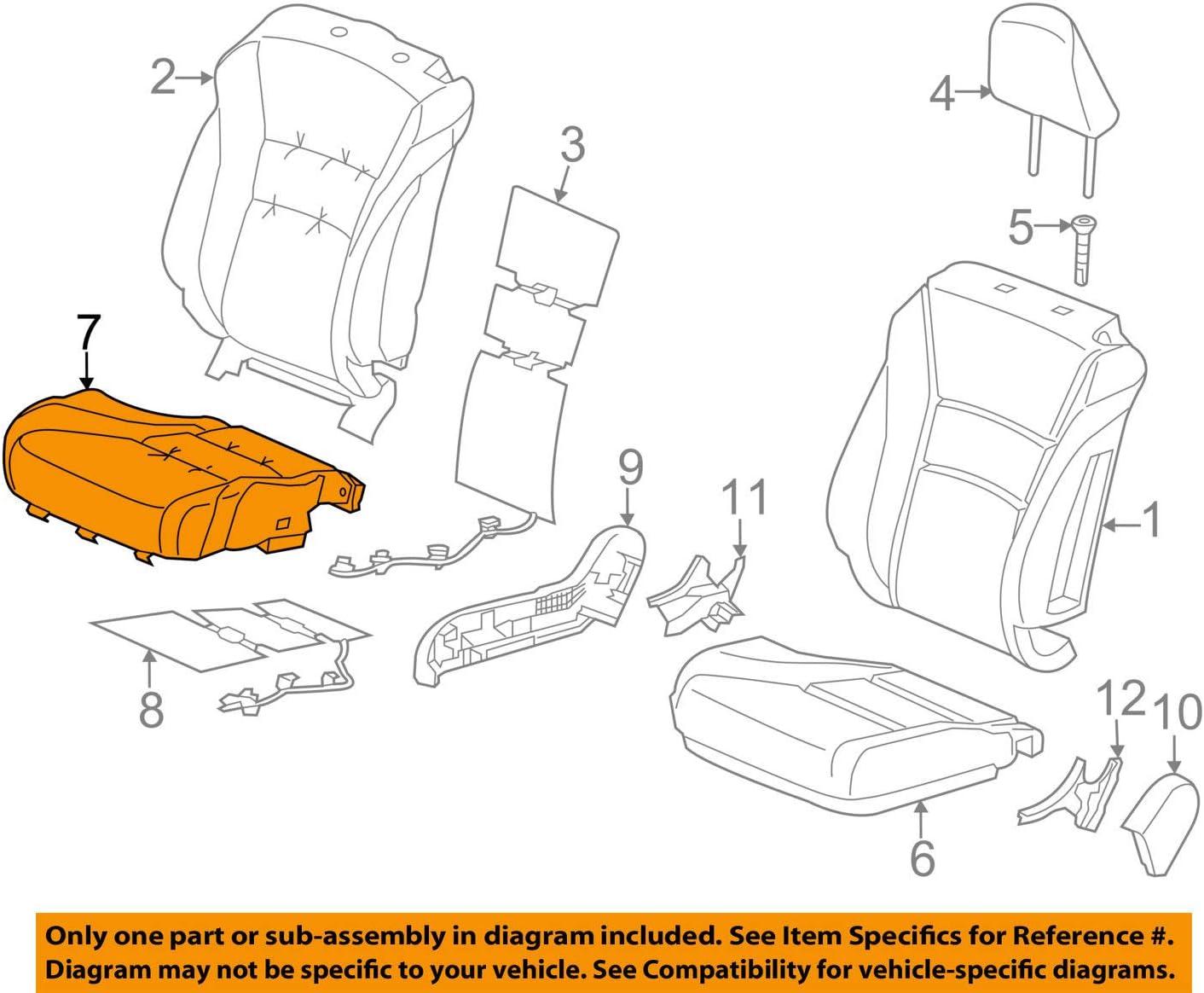 Honda Genuine 81131-T3L-A41ZA Seat Cushion Cover Right Fr Trim Cheap Overseas parallel import regular item SALE Start