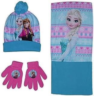 Disney Frozen - Juego de guantes y gorro para niña