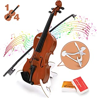 BAOLI Kids Simulation Violin Toys with Free Rosin, Chin Rest, Strings, Educational Musical Toy Violin for Toddlers Beginne...