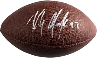 Rob Gronkowski New England Patriots Signed Autograph Football Steiner Sports Certified