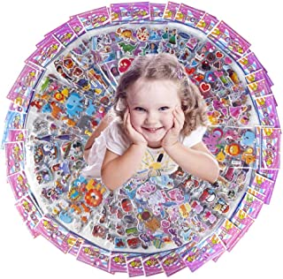 Pack of 45 Different Sheets Kids & Toddles Puffy Stickers Variety Pack 600+ 3D Puffy Stickers for Boys and Girls, Bulk Stickers for Kids Birthday Gift,Teachers,Including Animals,Stars,Heats and More!