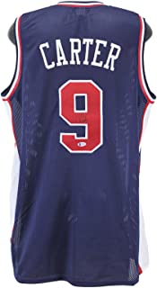 Vince Carter Autographed Jersey - Blue USA BAS Witnessed - Beckett Authentication - Autographed NBA Jerseys