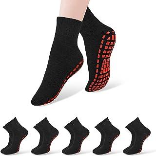 5 Pairs Non Slip Socks Grip Socks for Women Men Yoga Pilates Hospital Socks