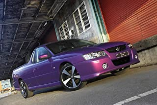 Holden Commodore SVZ Ute (2007) Car Art Poster Print on 10 mil Archival Satin Paper Purple Front Side Low Profile Tilt Static View 20