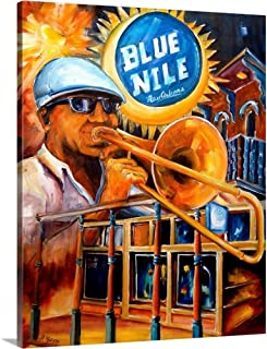 GREATBIGCANVAS Gallery-Wrapped Canvas Blue Nile by Diane Millsap 16