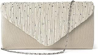 JOSEKO Evening Bag Clutch Purses for Women, Lady Shining Envelope Handbag Party Wedding Shoulder Cross Body Bag