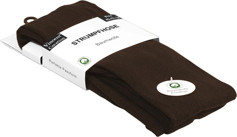 Strickstrumpfhose Uni Farben Vincent Creation Warme Damen Baumwoll Strumpfhose