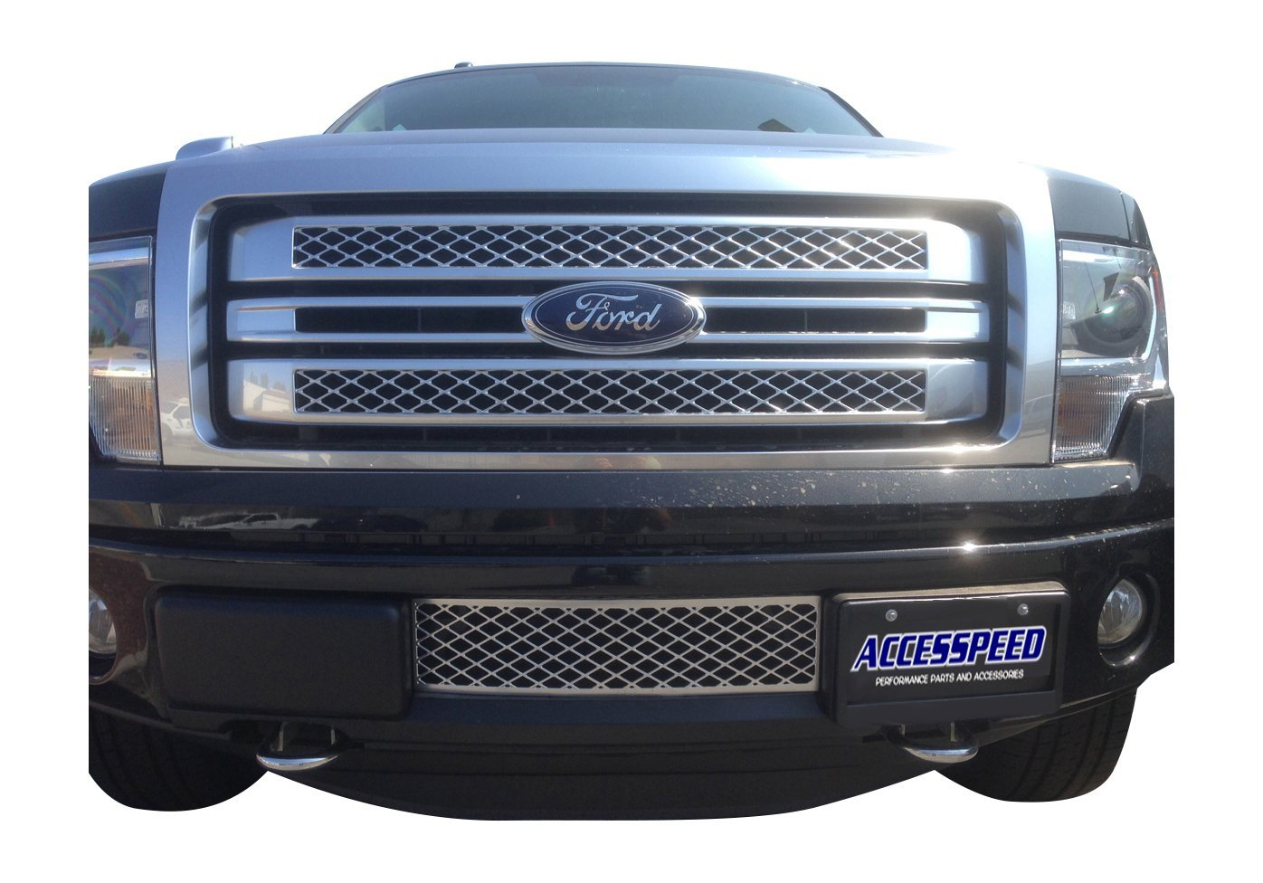 Amazon Com Ford F150 Chrome Grille Accesspeed Durable Oem Style Abs Plastic Lower Bumper Grille Insert Fits 2013 Ford F 150 Trucks Automotive