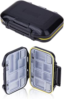 Ieasycan Fishing Tackle Box Waterproof ABS Fishing Box Hook 12 Compartments Storage Case Outdoor Fishing Swivels Lure Bait...