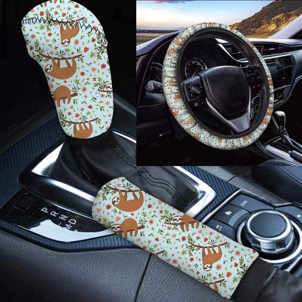 GePrint discount Lovely Sloth Animal Pattern Set 3Pcs Accessory Selling Soft Car