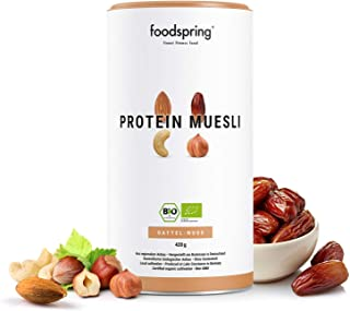 foodspring Muesli Proteico, 420g, Sabor Dátiles-Frutos