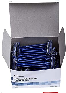 McKesson Twin Blade Razor Disposable (Box of 100)
