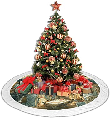 Nicokee Christmas Tree Skirt Christmas Nativity Tree Skirt for Xmas Ornaments Holiday Ornaments Christmas New Year Decoration