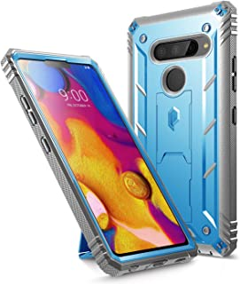 LG V40 ThinQ Rugged Case, LG V40 Rugged Case, Poetic Revolution [360 Degree Protection] [Built-in-Screen Protector] Full-Body Rugged Heavy Duty Case for LG V40 / LG V40 ThinQ (2018) - Blue