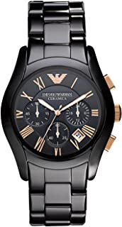 Emporio Armani Mens Quartz Watch, Analog Display and Ceramic Strap AR1410
