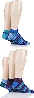 SOCKSHOP Mens Bamboo Striped and Plain Trainer Socks Pack of 5