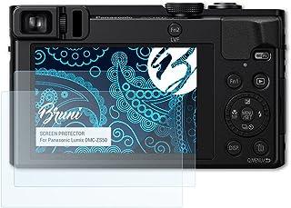Bruni Pellicola Protettiva compatibile con Panasonic Lumix DMC-ZS50 Pellicola Proteggi, cristallino Proteggi Schermo (2X)