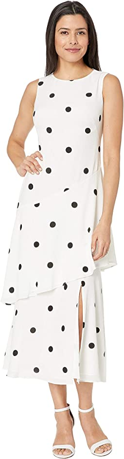 Depaul Dot Crepe Norris Sleeveless Day Dress