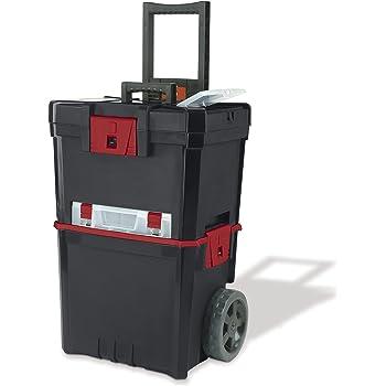 Keter 231805 Caja de herramientas en ruedas Martillo Mastercart con organizador: Amazon.es: Bricolaje y herramientas