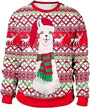 GREFER Womens Merry Christmas Plus Size Pullover Alpaca Printed Sweatshirt Tops Blouse