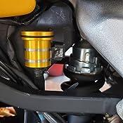 Universal Motorcycle Brake Clutch Reservoir Cup Reservoir Bottle For Kawasaki Z650 Z750 Z800 Z900 Z1000 Z1000SX ninja 650 Yamaha FZ07 FZ09 FZ10 FZ6R FZ6 TMAX 500 TMAX 530 YZ450F FAZER R6 Silver)