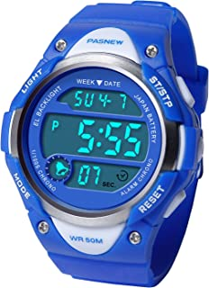 HIwatch Kids Sport Watch Water-Resistant Swimming LED Digital Watch with Alarm Back Light Stopwatch for Boys Girls 7+ Years Old, for School Boys