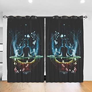 Blackout Curtains for Bedroom, Traditional Fighter Ryu Street Fighter Home Fashion Drapes for Small Windows Kitchen Cafe 2 Panel Set, 84W x 54L Inch/Pair
