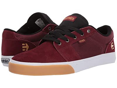 etnies Barge LS (Burgundy/Tan/White) Men