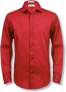 calvin klein long sleeve red dress