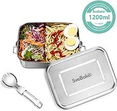 800ml Brotdose aus Metall mit f/ächer Besteck Lunchbox Geeignet f/ür Schule SveBake Lunchbox Edelstahl Auslaufsicher inkl Kinder /& Erwachsene