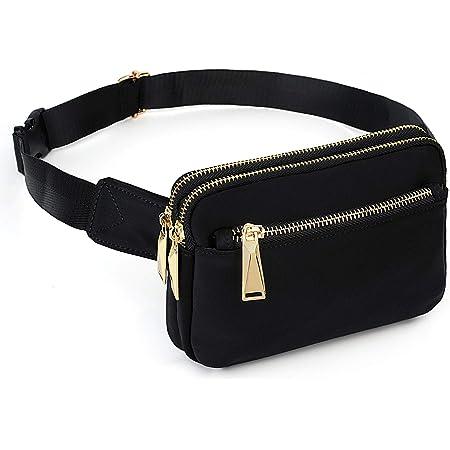 Naladoo Waterproof Waist Bag Crossbody Shoulder Bag Rainbow Chest Bag Fanny Pack Sport Bum Bag