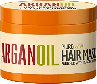 Máscara de aceite de argán para el cabello - Tratamiento acondicionador profundo para cabello seco dañado - Hidratante marroquí de extremo dividido, producto hidratante