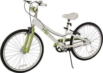 ByK E-450 Bicicleta para niños, Ruedas de 20 Pulgadas, Marco de 10 Pulgadas, para niños y niñas, Azul o Verde Lima