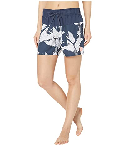 Roxy Sea Boardshorts (Mood Indigo Flying Flowers) Women