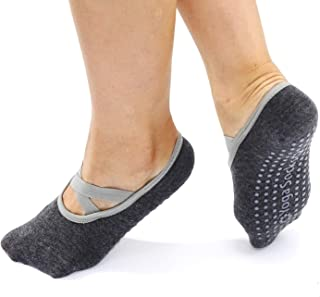 Yaluntalun Yoga Socks for Women Non Slip Cross Belt Sticky Non Skid Grip