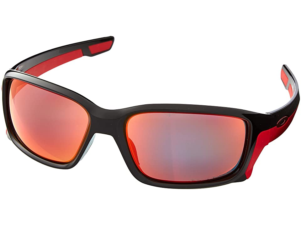 Oakley Straightlink (Polished Black/Torch Iridium Polarized) Fashion Sunglasses