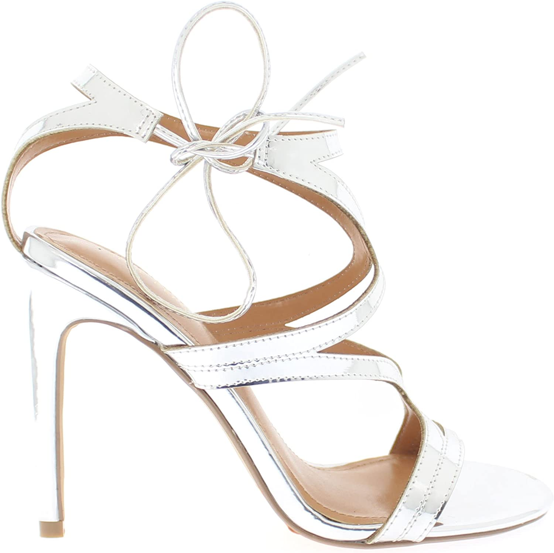 shoes Republic LA Curvy Cage Straps Open Toe Sandal with Stiletto Heel Karmen