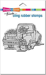 Stampendous CRP349 Cling Pup On Truck Rubber Stamp