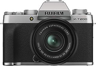 Fujifilm X-T200 Mirrorless Digital Camera w/XC15-45mm Kit - Silver