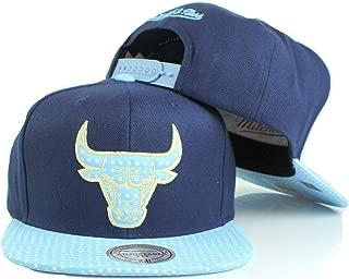 Mitchell & Ness NBA Light Blue Stars Visor Snapback Cap