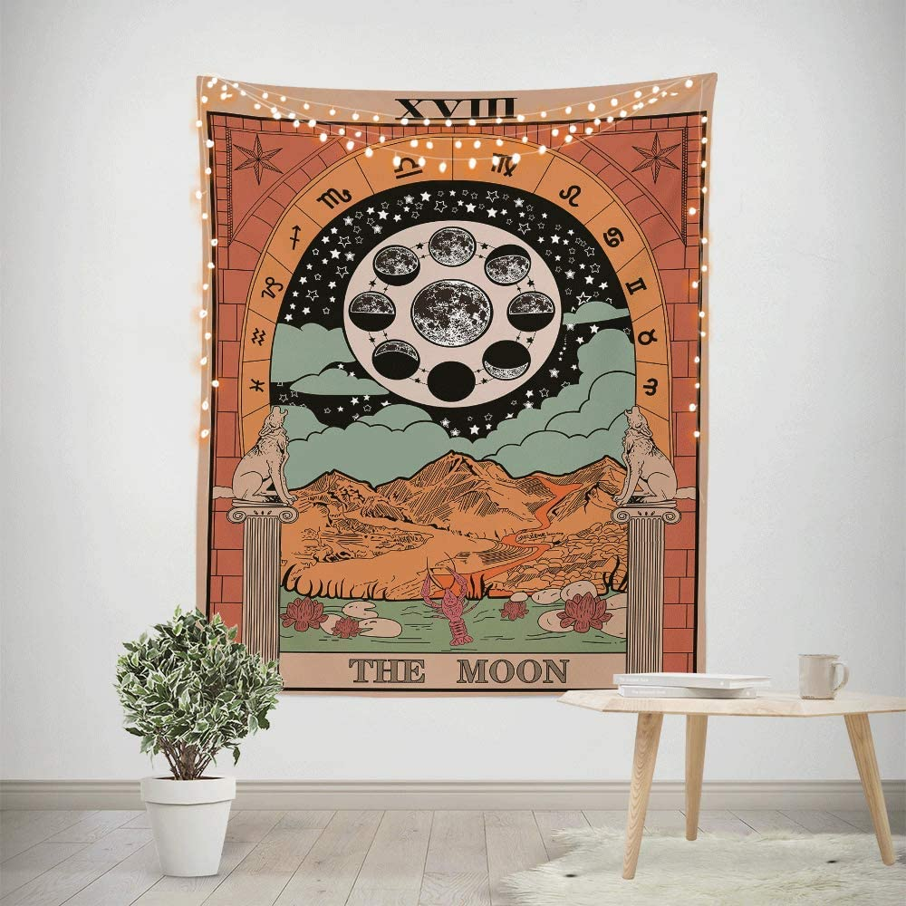 Tarot 2021 model Cards Tapestry Colorful Moon Decorative Design Tucson Mall Wall Style