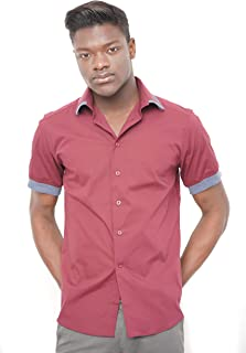 Morgan Visioli Fashion Camiseta DE Hombre Bordeaux& Light Grey