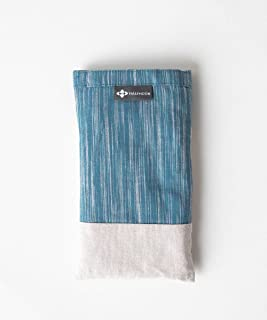 Halfmoon Yoga Linen Eye Pillow, Perfect for Yoga, Meditation, and Sleep - Tidal/Sand, Lavender