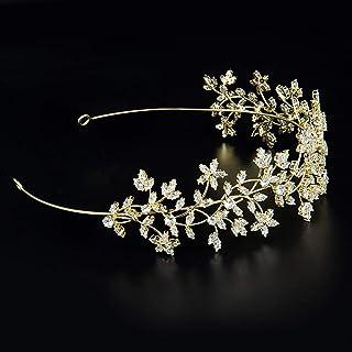 Fashion Bride Hair Headband Flowers Wedding Tiaras Zircon Women Hair Accessories Jewelry Headpiece Soft Luxury Barrettes H...