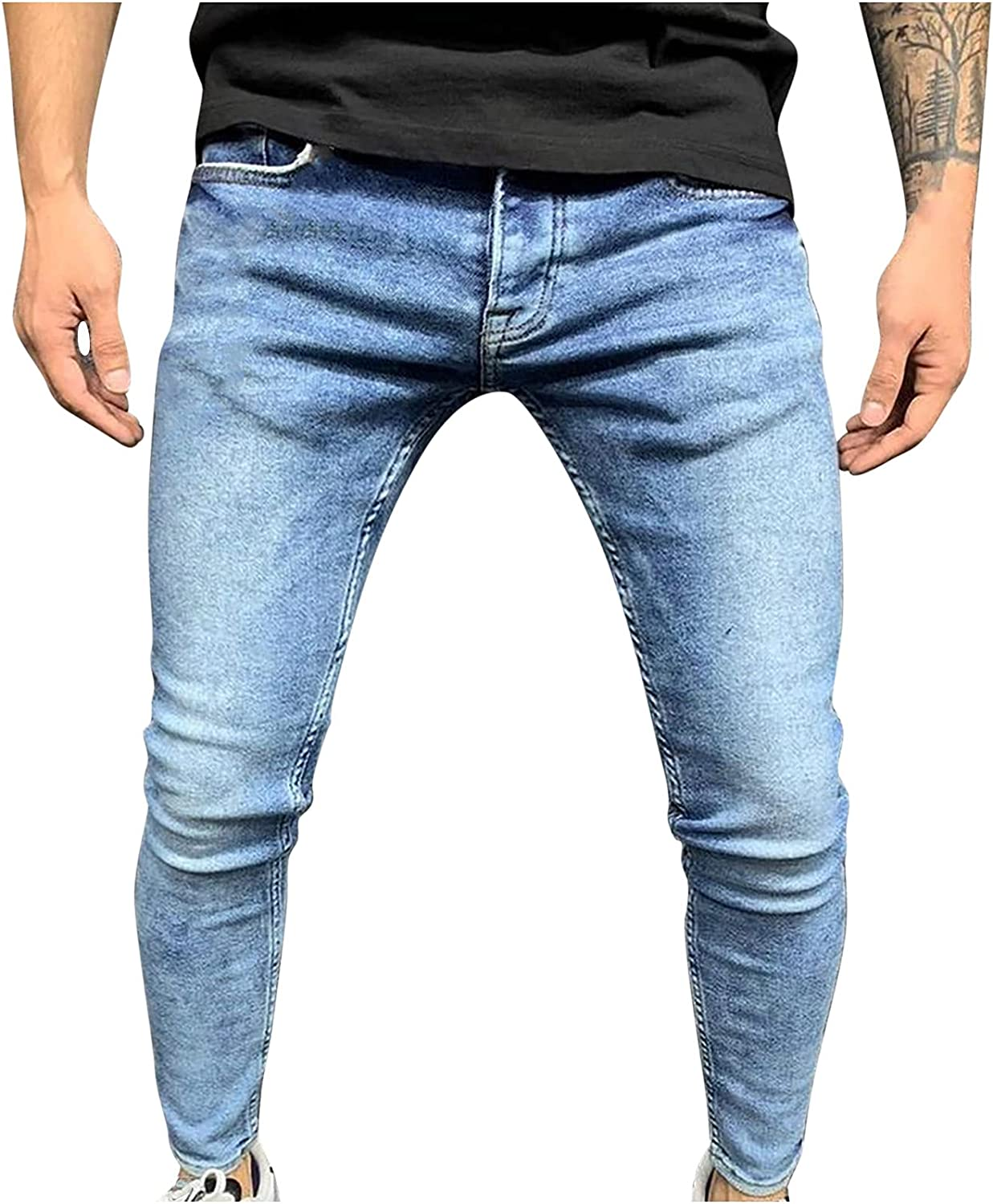 Ripped Jeans for Men Skinny Denim Stretch Popular standard Distressed Animer and price revision Pants Freye