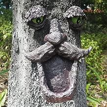 Tree Face Bird Feeder, Outdoor Tree Hugger Sculpture-Garden Yard Decor Have Exaggerated Big Eye and Tree Face