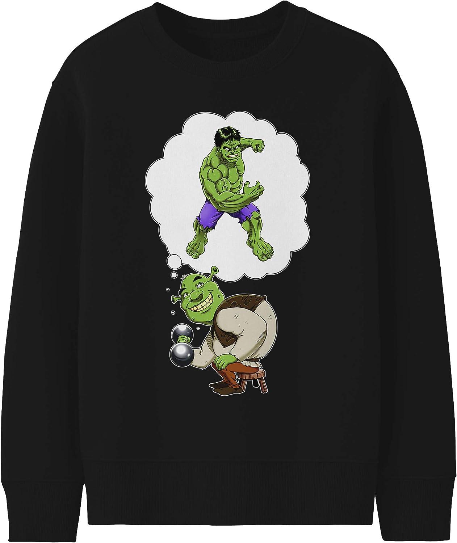 Dr/ôle dAutoportrait :/ Pull Enfant Noir Parodie Batman Sweatshirt de qualit/é sup/érieure - imprim/é en France Le Joker
