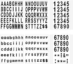 LUTER 210 Stuks 6 Vellen Brievenbus Nummers en Letters Stickers Waterdicht Zelfklevende Stickers voor Brievenbus, Huis, De...
