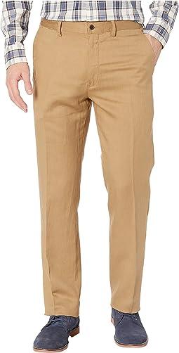 Linen Lyocell Blend Newport Flat Classic Fit Pants